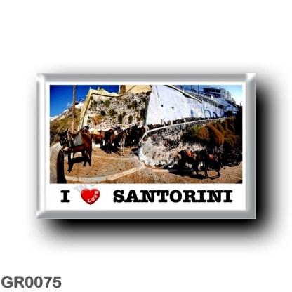 GR0075 Europe - Greece - Santorini - Thera - Thira - The windmills - I Love