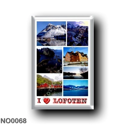 NO0068 Europe - Norway - Lofoten - Mosaico I Love