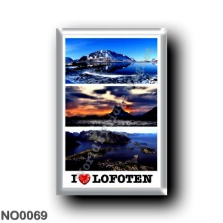 NO0069 Europe - Norway - Lofoten - Mosaico I Love