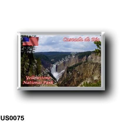 US0075 America - United States - National Park - Yellowstone - Cascada de Río