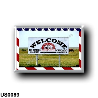 US0089 America - United States - Route 66 - Midpoint Los Angeles Chicago