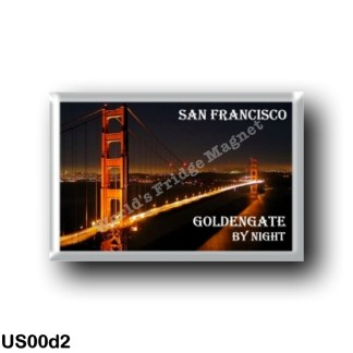 US00d2 America - United States - San Francisco - Golden Gate - By Nigth