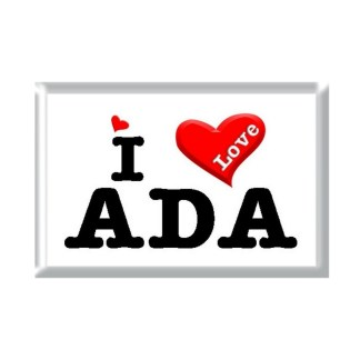 I Love ADA rectangular refrigerator magnet