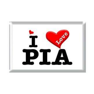 I Love PIA rectangular refrigerator magnet