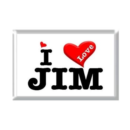 I Love JIM rectangular refrigerator magnet