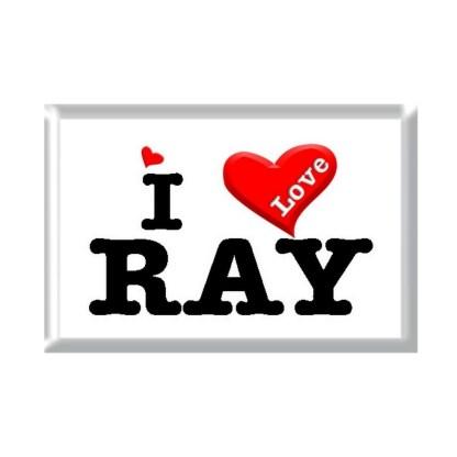 I Love RAY rectangular refrigerator magnet