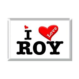 I Love ROY rectangular refrigerator magnet