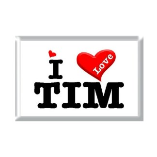 I Love TIM rectangular refrigerator magnet