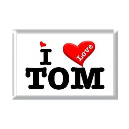 I Love TOM rectangular refrigerator magnet