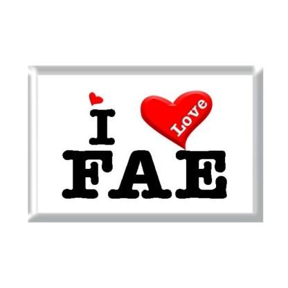 I Love FAE rectangular refrigerator magnet