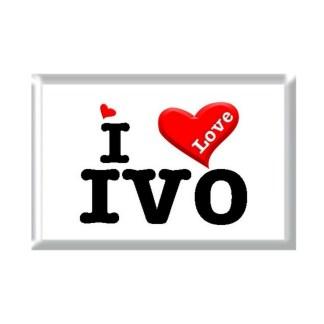 I Love IVO rectangular refrigerator magnet