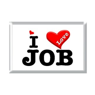 I Love JOB rectangular refrigerator magnet