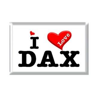 I Love DAX rectangular refrigerator magnet