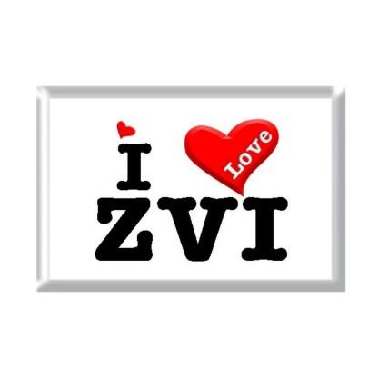 I Love ZVI rectangular refrigerator magnet