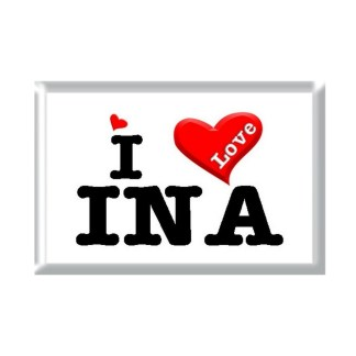 I Love INA rectangular refrigerator magnet