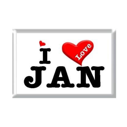 I Love JAN rectangular refrigerator magnet