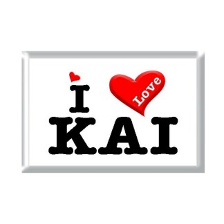 I Love KAI rectangular refrigerator magnet