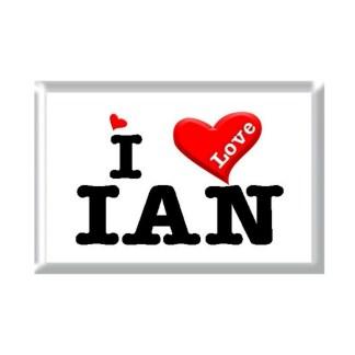 I Love IAN rectangular refrigerator magnet