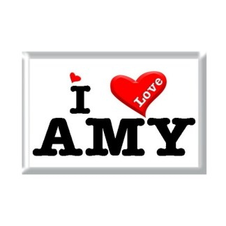 I Love AMY rectangular refrigerator magnet