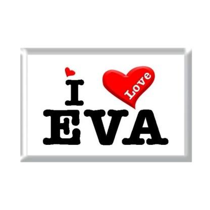 I Love EVA rectangular refrigerator magnet
