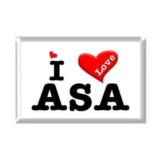 I Love ASA rectangular refrigerator magnet