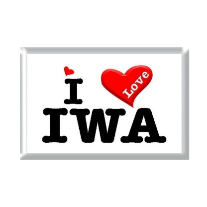 I Love IWA rectangular refrigerator magnet