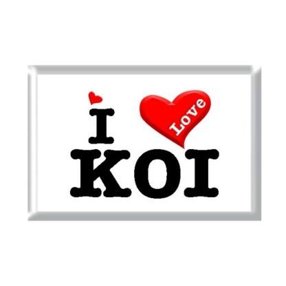 I Love KOI rectangular refrigerator magnet