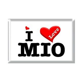 I Love MIO rectangular refrigerator magnet