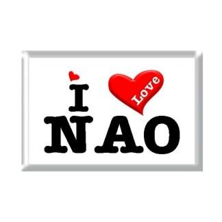 I Love NAO rectangular refrigerator magnet