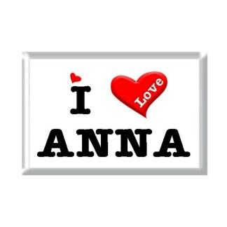 I Love ANNA rectangular refrigerator magnet