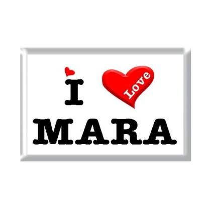 I Love MARA rectangular refrigerator magnet