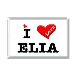 I Love ELIA rectangular refrigerator magnet