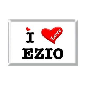 I Love EZIO rectangular refrigerator magnet