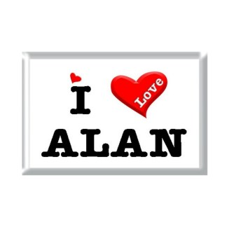 I Love ALAN rectangular refrigerator magnet