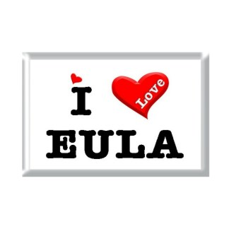 I Love EULA rectangular refrigerator magnet