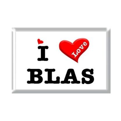 I Love BLAS rectangular refrigerator magnet