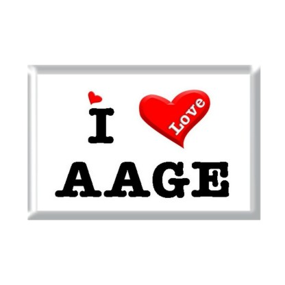 I Love AAGE rectangular refrigerator magnet