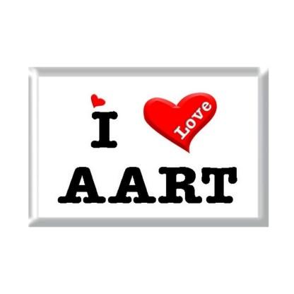 I Love AART rectangular refrigerator magnet