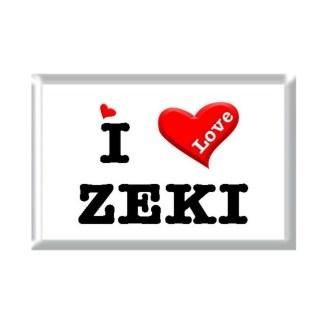 I Love ZEKI rectangular refrigerator magnet