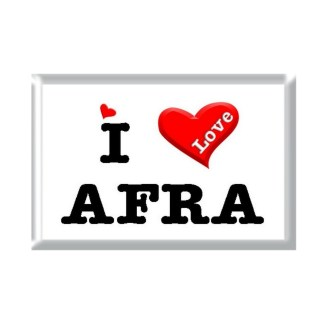I Love AFRA rectangular refrigerator magnet