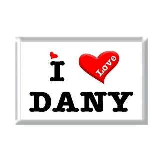 I Love DANY rectangular refrigerator magnet