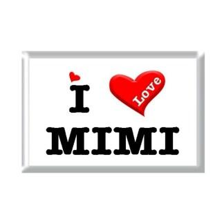 I Love MIMI rectangular refrigerator magnet