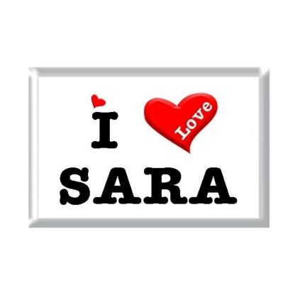 I Love SARA rectangular refrigerator magnet