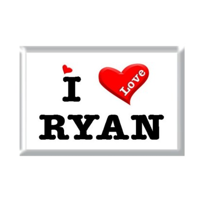 I Love RYAN rectangular refrigerator magnet