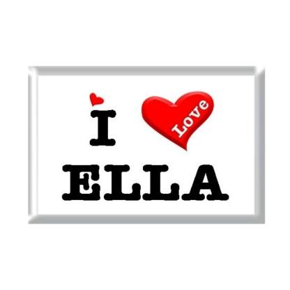 I Love ELLA rectangular refrigerator magnet