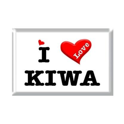 I Love KIWA rectangular refrigerator magnet
