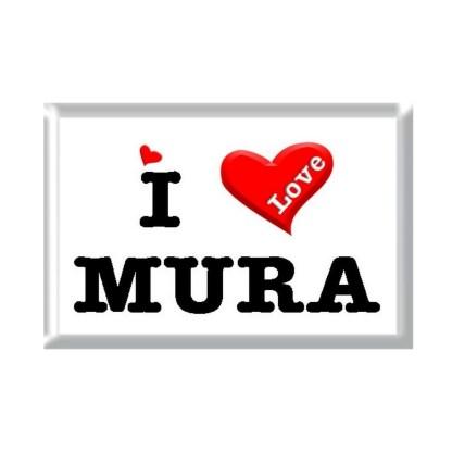 I Love MURA rectangular refrigerator magnet