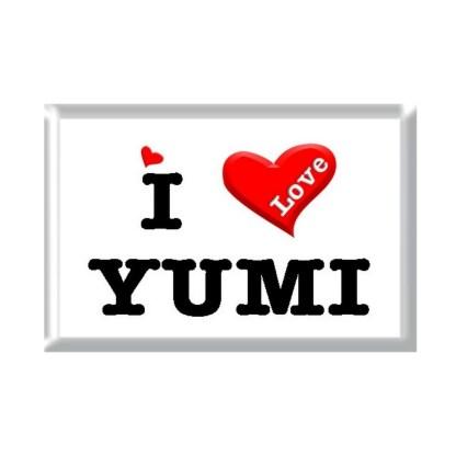 I Love YUMI rectangular refrigerator magnet