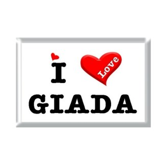I Love GIADA rectangular refrigerator magnet