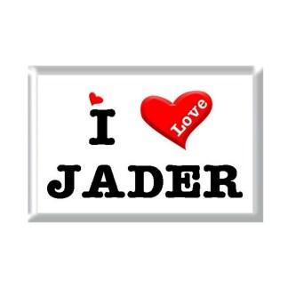 I Love JADER rectangular refrigerator magnet